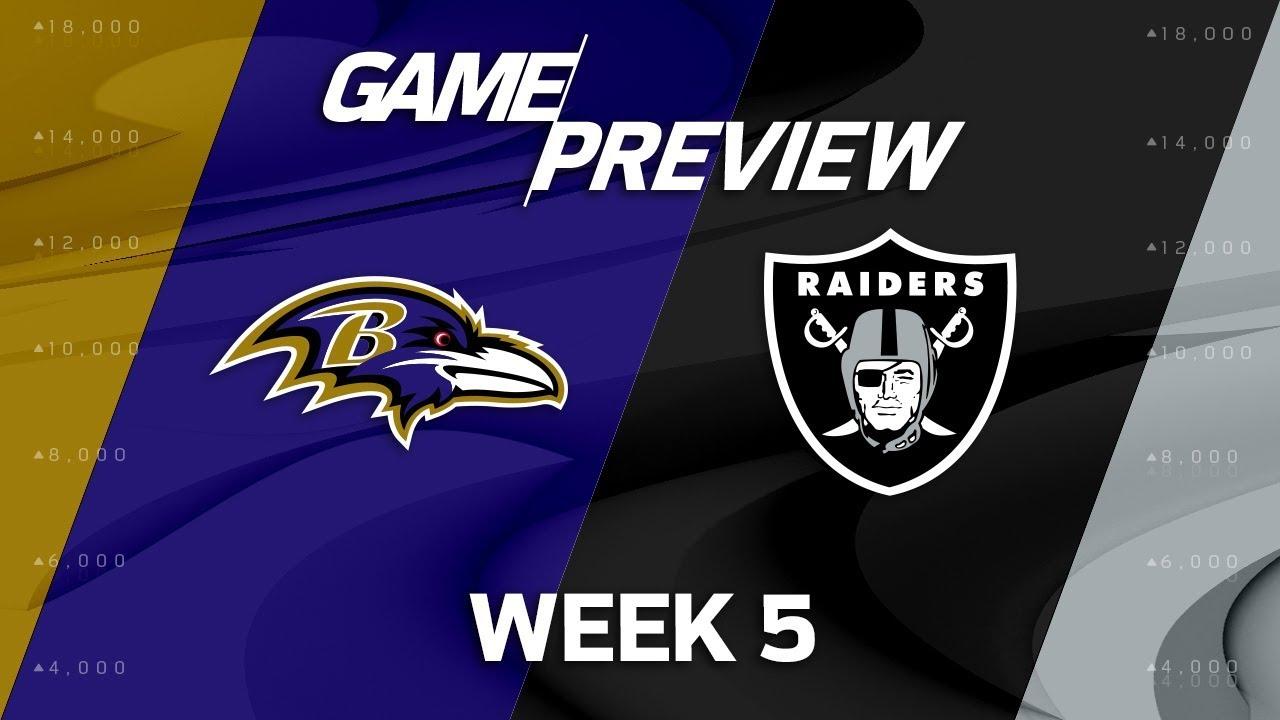 Baltimore Ravens vs. Oakland Raiders | Week 5 Game Preview ...