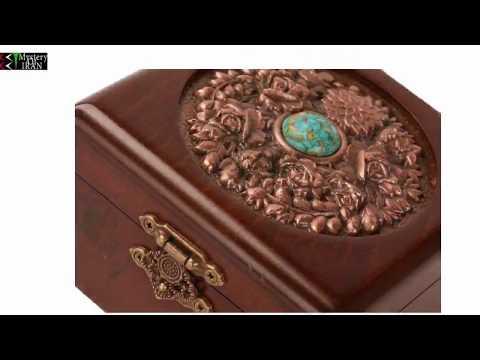 Beautiful Jewellry Box wooden carving Persian Handicrafts