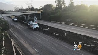 101 Fwy. Expected To Reopen Ahead Of Monday Commute