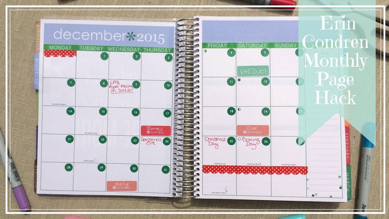 "Calendar Planner Erin Condren : Search results for ""erin condren calendar template"