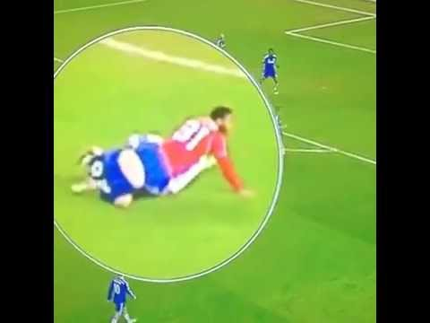 Funny John Terry's tackle against Raheem Sterling