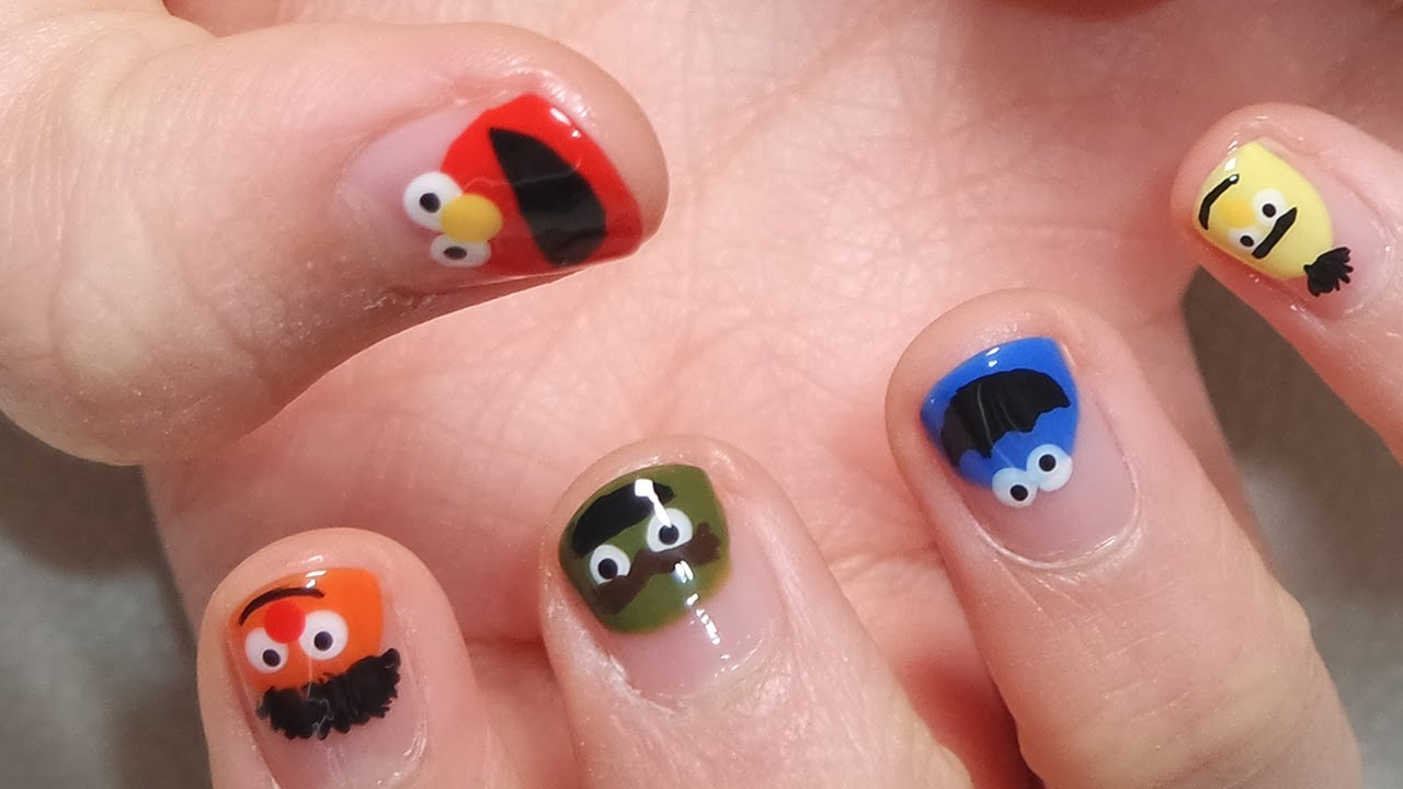 Sesame Street Nail Art Youtube