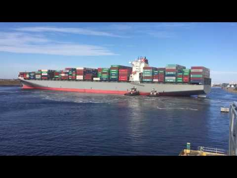 "First Call of a ""K"" Line 8,000 teu vessel in the Port of Wilmington NC"