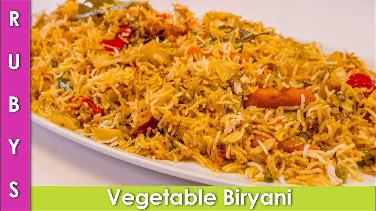Vegetable Biryani Recipe In Urdu Hindi Rkk Youtube