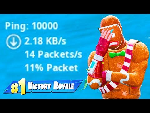 fortnite with 10000 PING