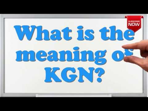What is the full form of KGN?