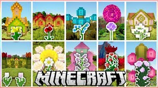 A House for Every Flower in Minecraft!