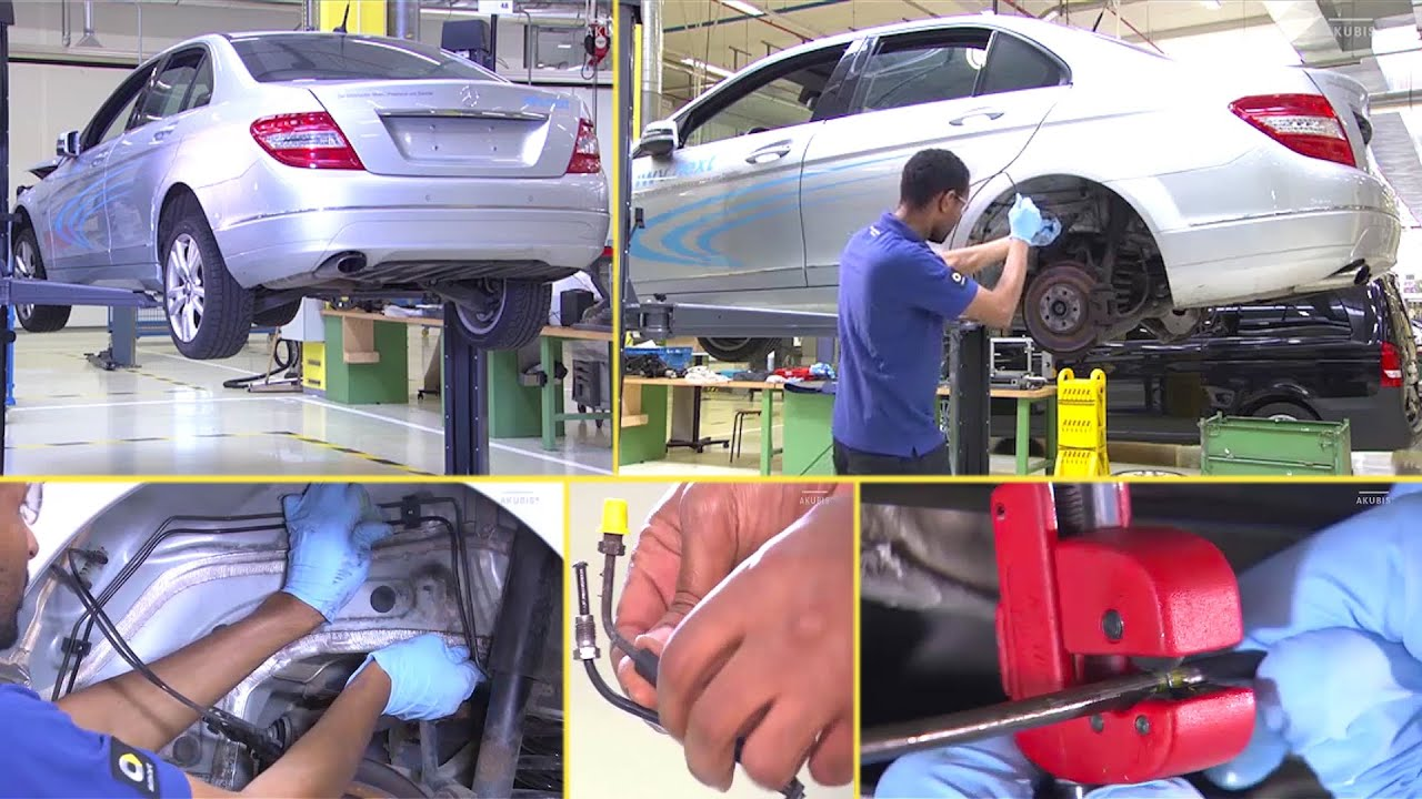Mercedes Benz How To Replace The Brake Lines Represented On C Class W204 Youtube