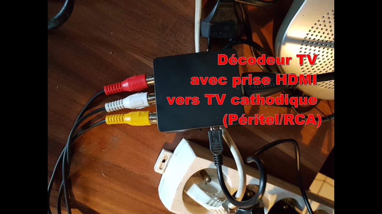 vente en magasin volume grand plus tard Connect a new TV decoder (HDMI) to an old TV (RCA - Scart)
