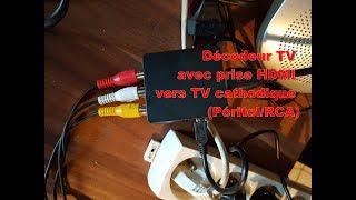 Brancher un nouveau décodeur TV (HDMI) sur une vieille TV cathodique (RCA – Péritel)