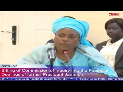 Former Minister Of Energy & Petroleum Sira Wally Ndow Testifies At The Commission Of Enquiry
