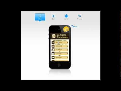 La Costa Concierge Mobile Website