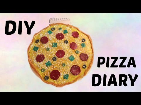 How to make a DIY PIZZA Diary /3D pizza craft