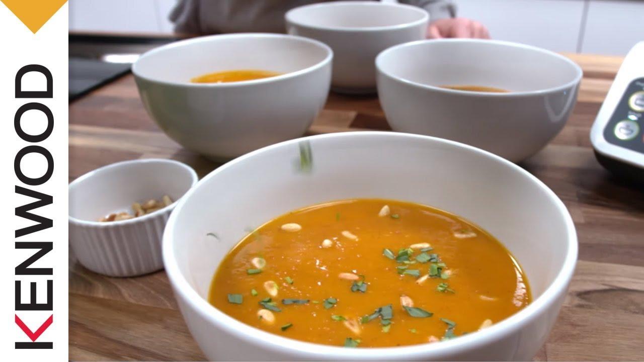 recette de la soupe de carotte et chorizo avec le robot cuiseur kcook multi de kenwood youtube. Black Bedroom Furniture Sets. Home Design Ideas