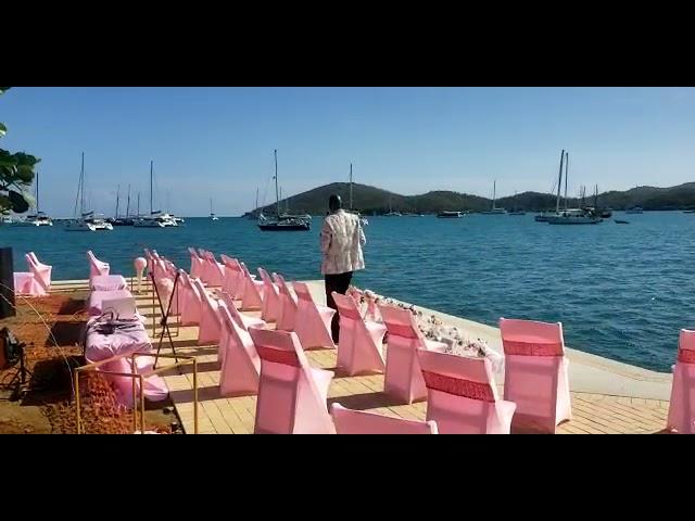 First St Thomas Virgin Islands Water Front Wedding