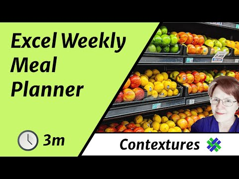 Get Organized with Excel Weekly Meal Planner - YouTube