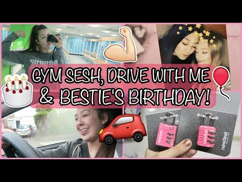GYM SESH, DRIVE WITH ME & BESTIE'S BIRTHDAY! | Amy Wragg