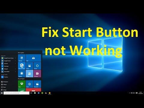 Fix Start Button not Working in Windows 10!! - Howtosolveit