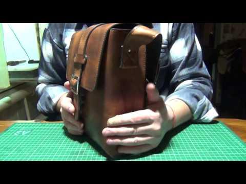 """Кожаные сумка и кошелёк """"почти"""" ручной работы."""
