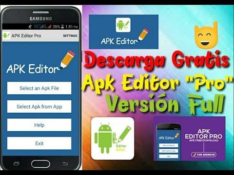 APK EDITOR PRO - COMO USAR + DOWNLOAD VERSION FULL