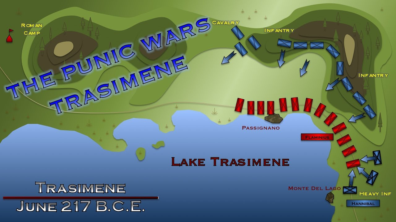 Battle of Trasimene - 217 B.C.E. - YouTube