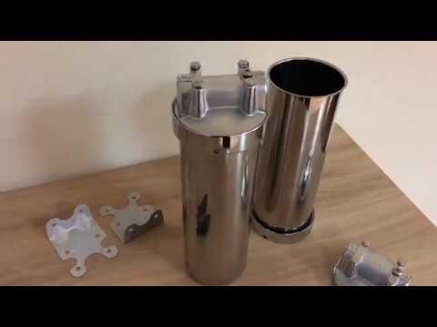 Магистральный фильтр для очистки горячей и холодной воды (нержавеющая сталь)