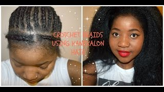 How I crotchet braid my hair using Kanekalon