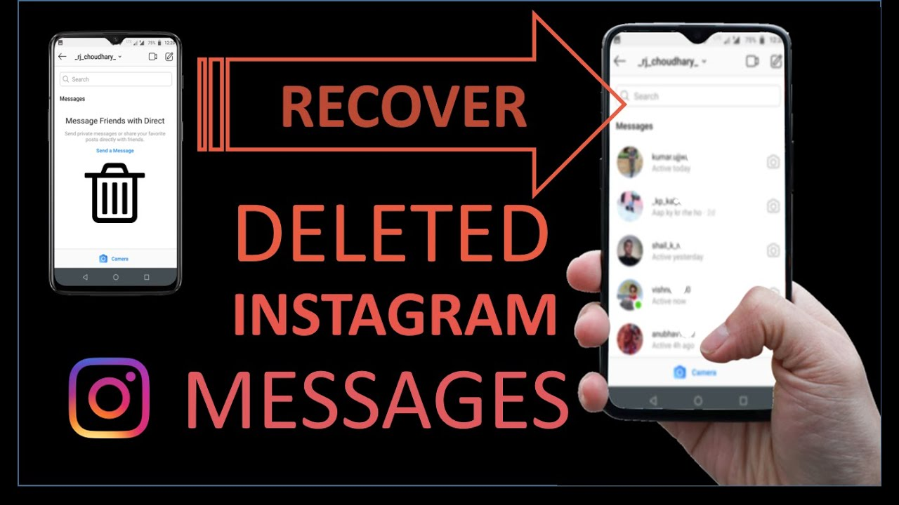 Recover Deleted Instagram Messages !! No root required