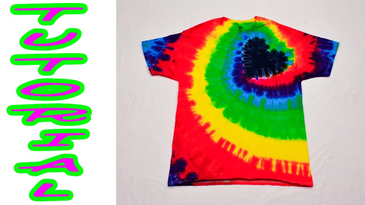 fec02f62 DIY Tie Dye Rainbow Spiral Heart Shirt [Tutorial] #18 - YouTube