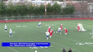 Acton Boxborough Boys Lacrosse vs Melrose 4/23/16