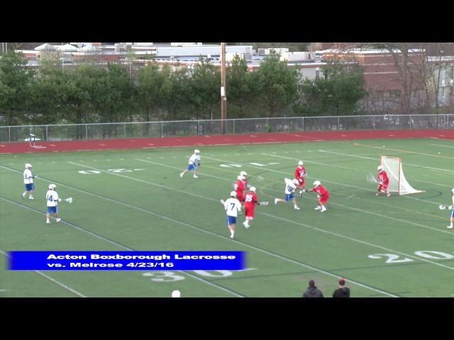 Acton Boxborough Boys Lacrosse vs Melrose 4/23/16
