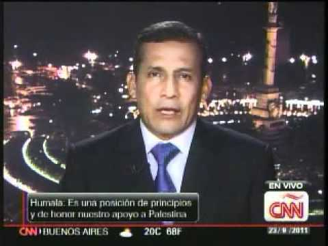 Presidente Ollanta Humala brinda una entrevista a CNN