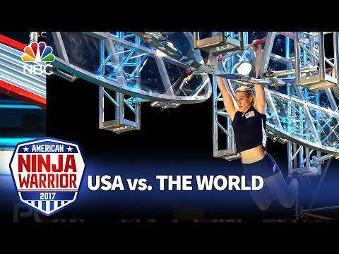 Jessie Graff's Record-Breaking Run - American Ninja Warrior: USA vs. The World