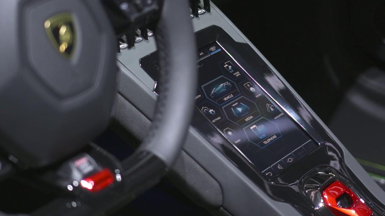 Lamborghini Huracán EVO Spyder Interior Design - YouTube