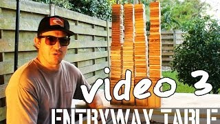 How To Build A Super Awesome Entryway Table - (video # 3/4) - Reclaimed Wood By Beachbumlivin