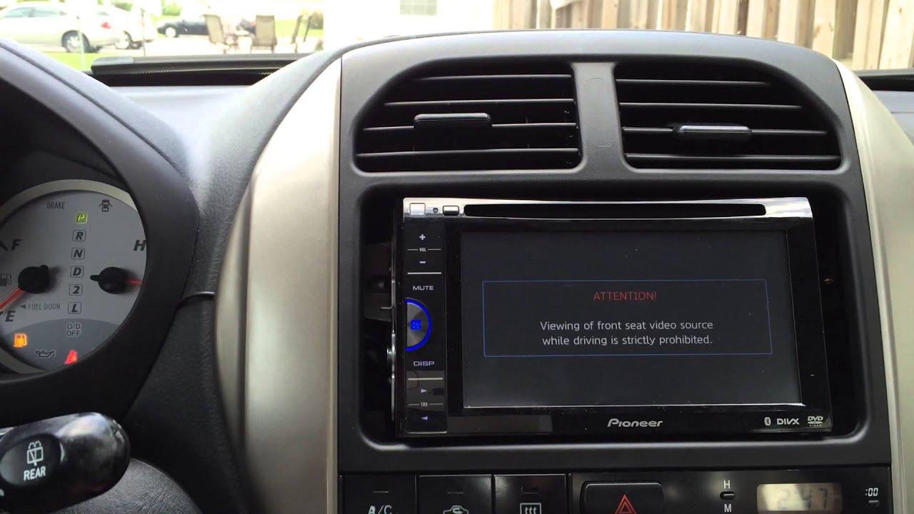 hight resolution of pioneer avh 200bt dvd receiver installation toyota rav4 projectravfel youtube