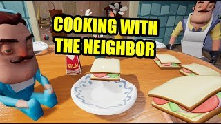 COOKING WITH THE NEIGHBOR | HELLO NEIGHBOR SANDWICHES