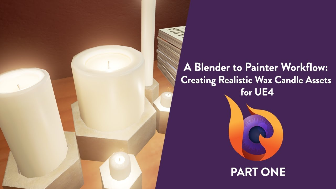 A Blender to Painter Workflow: Creating Realistic Wax Candle