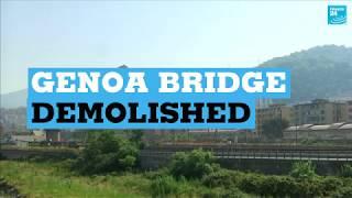 Genoa bridge demolished