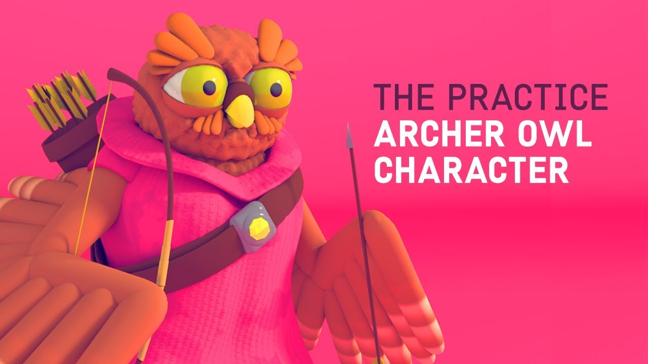 Sculpt and Model an Owl Archer in Cinema 4d! // The Practice