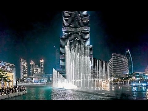 Burj Khalifa Water Dance 2017 Youtube