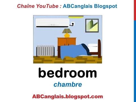 Cours d'anglais 42 - La chambre en anglais Vocabulaire meubles pièces de la maison pour enfants