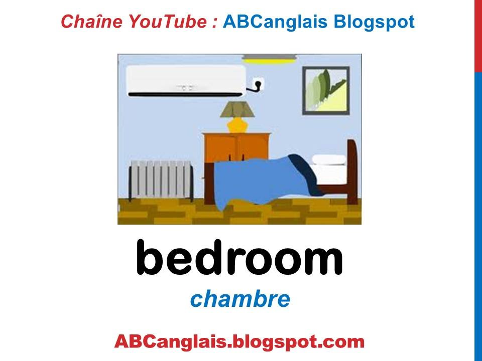 cours d 39 anglais 42 la chambre en anglais vocabulaire meubles pi ces de la maison pour enfants. Black Bedroom Furniture Sets. Home Design Ideas