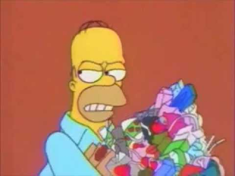 Homer Takes Out Trash Youtube