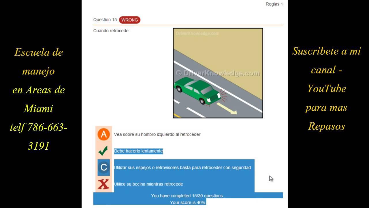 Licencia De Conducir: REPASO PARTE #4 EXAMEN TEORICO DE LICENCIA DE MANEJO EN
