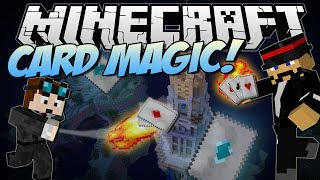 Minecraft | CARD MAGIC! (Throw Magical Cards with Crazy Effects!) | Mod Showcase