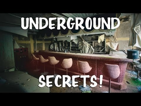 ABANDONED HOTEL WITH SECRET UNDERGROUND ROOMS!!