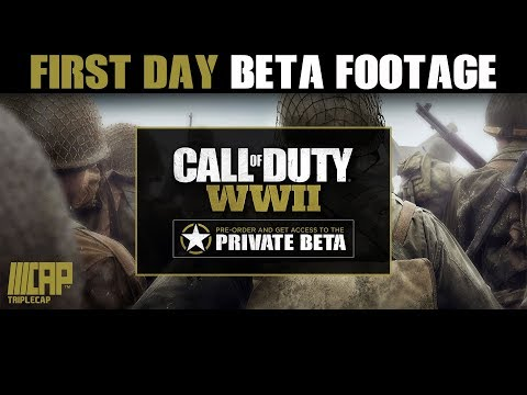 Call of Duty WWII BETA Gameplay - First Day