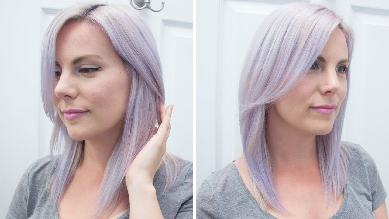 how to dye your hair lavenderpastel purple manic panic