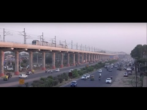 Newly Launched Delhi Metro to Faridabad Arriving & Departing From Bata  Chowk Station